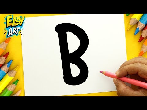 Como dibujar un Oso a partir de la letra B, dibujos de A Partir De La Letra B, como dibujar A Partir De La Letra B paso a paso