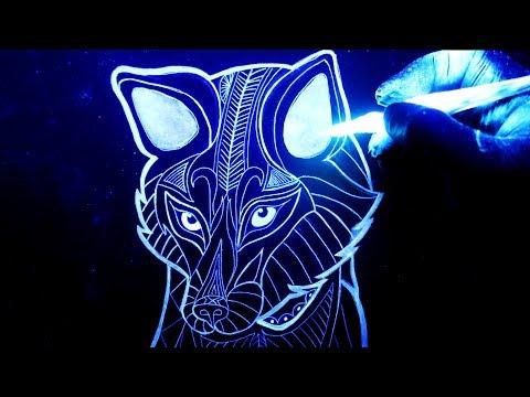 Como dibujar un Zorro con tinta brillante en la oscuridad, dibujos de A Gokú Ssj Dios Con Efecto Brillante En La Oscuridad, como dibujar A Gokú Ssj Dios Con Efecto Brillante En La Oscuridad paso a paso