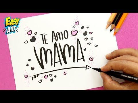 Como dibujar una tarjeta para el Día de la Madre muy fácil, dibujos de Una Tarjeta Para El Día De La Madre, como dibujar Una Tarjeta Para El Día De La Madre paso a paso