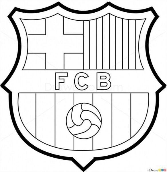 Dibujos Para Colorear Escudos De Futbol  Escudo barça  Escudos dibujo   Dibujos para colorear, dibujos de Escudos De Fútbol, como dibujar Escudos De Fútbol paso a paso