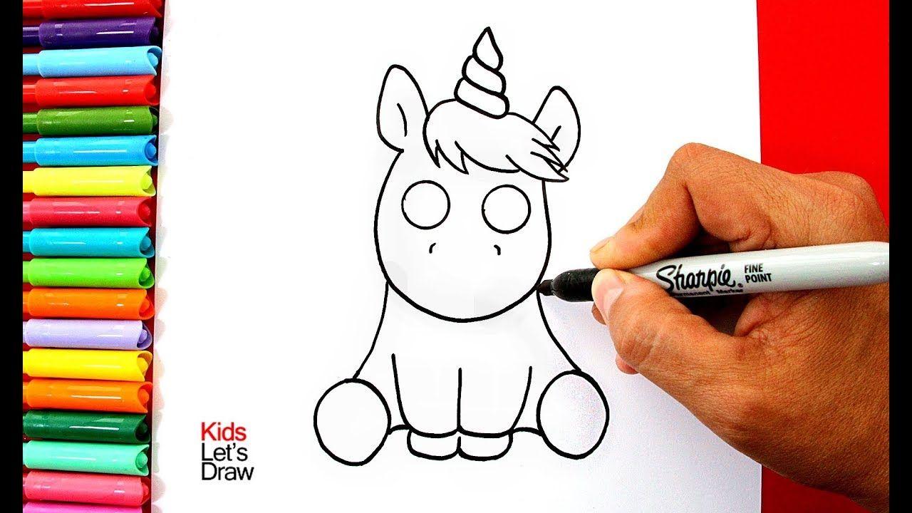 Como Dibujar Un Unicornio Kawaii Fácil Paso A Paso