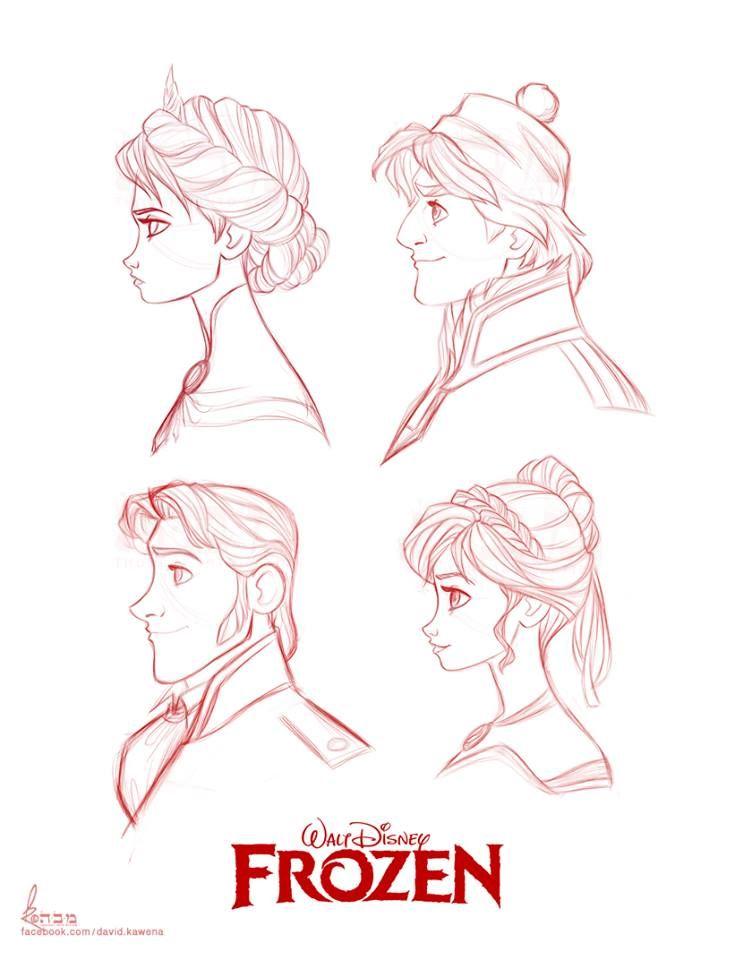 Perfil Frozen  Estilo disney  Elsa frozen  Frozen, dibujos de A Elsa De Perfil, como dibujar A Elsa De Perfil paso a paso