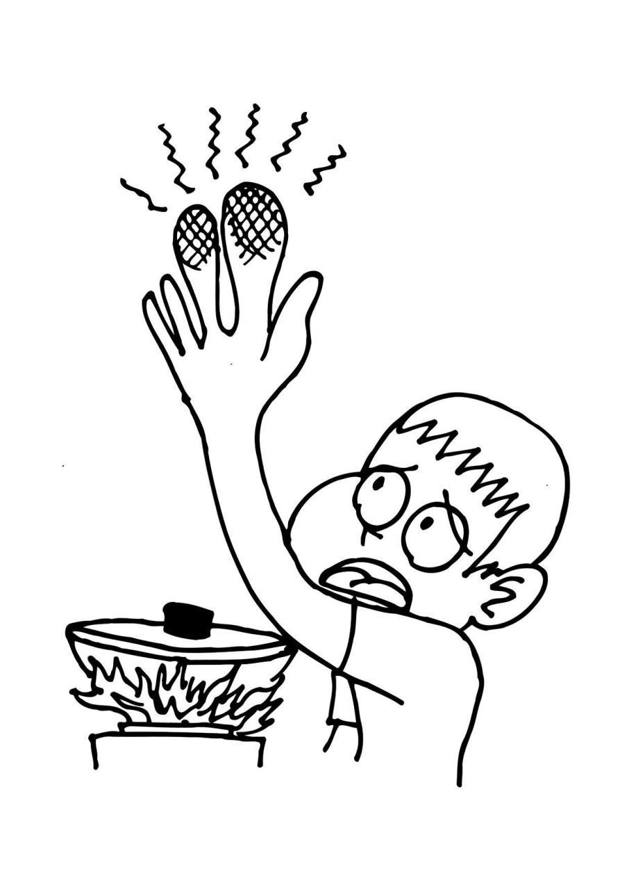 Dibujo para colorear Quemadura - Dibujos Para Imprimir Gratis, dibujos de Quemaduras, como dibujar Quemaduras paso a paso