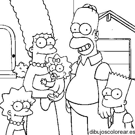 Dibujo de la familia Simpson, dibujos de A La Familia Simpson, como dibujar A La Familia Simpson paso a paso