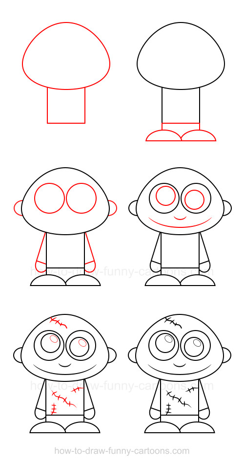 Cómo dibujar un zombi