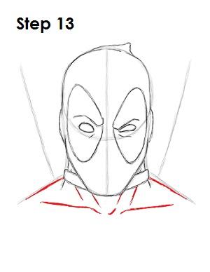 Dibujar Deadpool Marvel 13