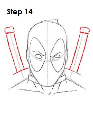 Dibujar Deadpool Marvel 14