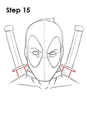 Dibujar Deadpool Marvel 15