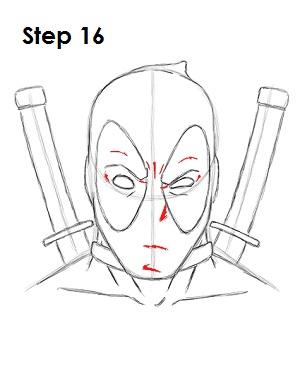 Dibujar Deadpool Marvel 16
