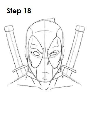 Dibujar Deadpool Marvel 18