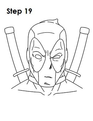 Dibujar Deadpool Marvel 19