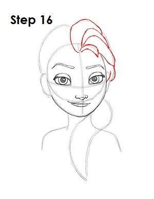 Dibujar a Elsa Frozen 16
