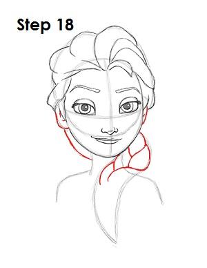 Dibujar a Elsa Frozen 18