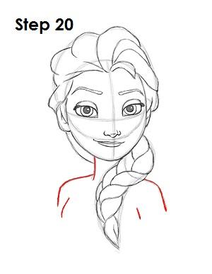 Dibujar a Elsa Frozen 20