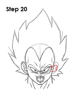 Dibujar Vegeta 20