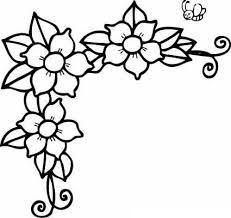 Flores pequeñas para colorear e imprimir  Flores pequeñas  Diseños  bordados a mano  Dibujos para bordar mexicano, dibujos de Flores Pequeñas, como dibujar Flores Pequeñas paso a paso
