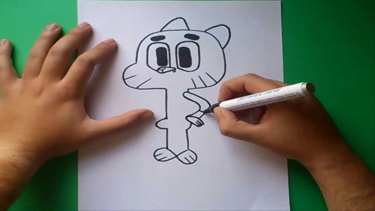 Como dibujar a Gumball paso a paso - El asombroso mundo de Gumball Ho - - - El asombroso mundo de gumball Gumball El increible mundo de gumball, dibujos de A Gumball De El Asombroso Mundo De Gumball, como dibujar A Gumball De El Asombroso Mundo De Gumball paso a paso