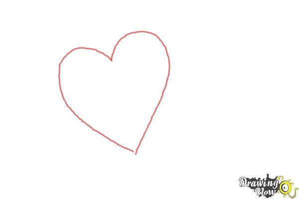 Cómo dibujar un corazón elegante - Paso 1