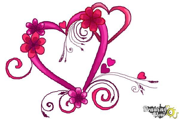 Cómo dibujar un corazón elegante - Paso 10