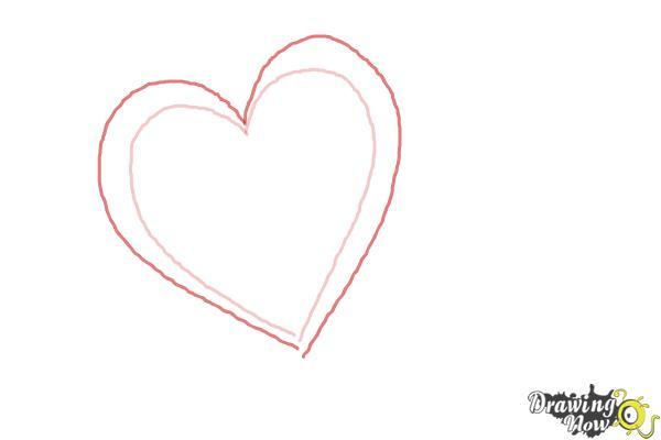 Cómo dibujar un corazón elegante - Paso 2