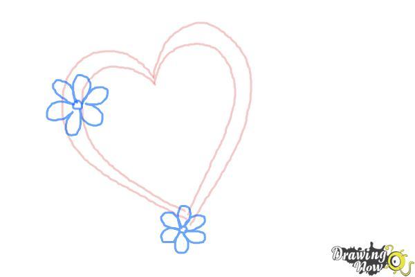 Cómo dibujar un corazón elegante - Paso 3