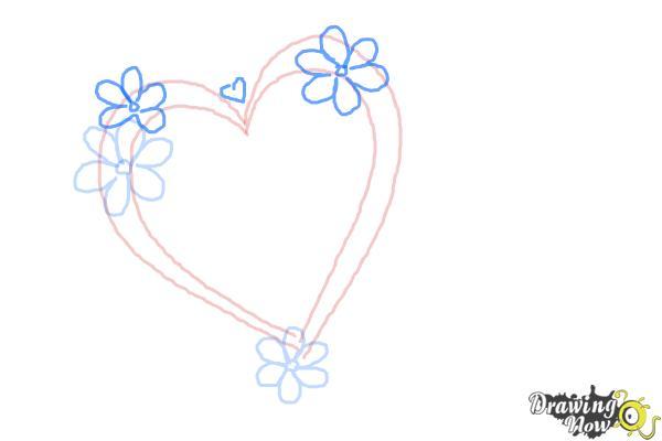 Cómo dibujar un corazón elegante - Paso 4