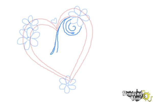 Cómo dibujar un corazón elegante - Paso 5