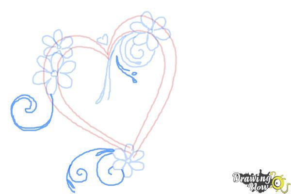 Cómo dibujar un corazón elegante - Paso 6