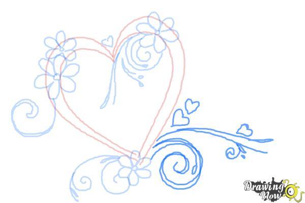Cómo dibujar un corazón elegante - Paso 7