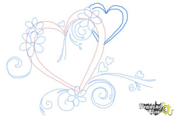 Cómo dibujar un corazón elegante - Paso 8