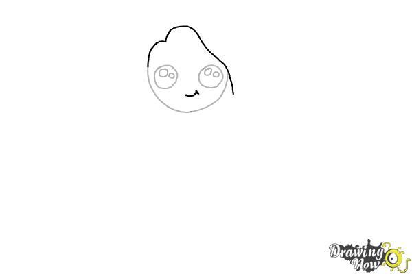 Cómo dibujar una chica estilo cute - Paso 4