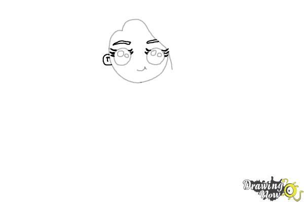 Cómo dibujar una chica estilo cute - Paso 5