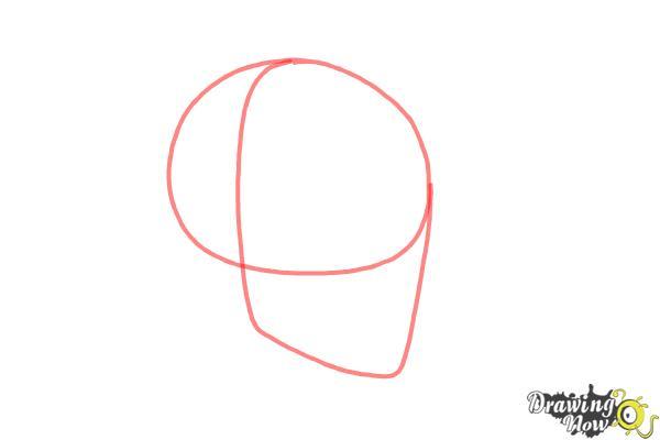 Cómo dibujar una calavera paso a paso - Paso 1