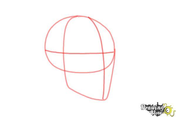 Cómo dibujar una calavera paso a paso - Paso 2