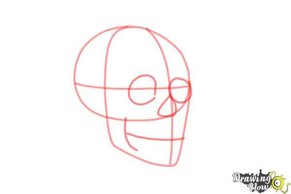 Cómo dibujar una calavera paso a paso - Paso 3