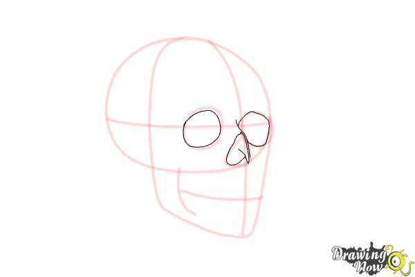 Cómo dibujar una calavera paso a paso - Paso 4