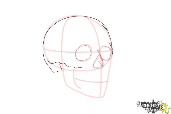 Cómo dibujar una calavera paso a paso - Paso 5