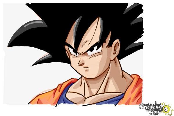 Cómo dibujar a Goku - Dragonball Z - Paso 12