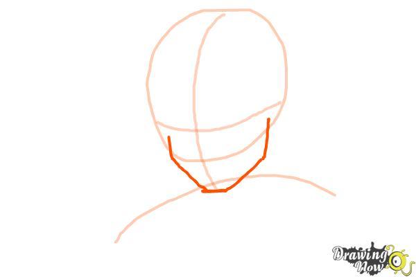 Cómo dibujar a Goku - Dragonball Z - Paso 2