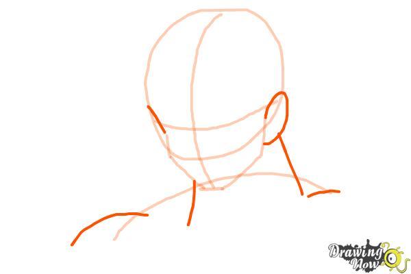 Cómo dibujar a Goku - Dragonball Z - Paso 3