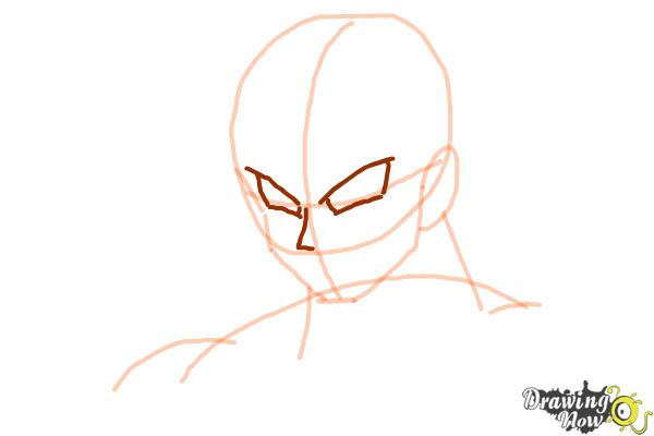 Cómo dibujar a Goku - Dragonball Z - Paso 4