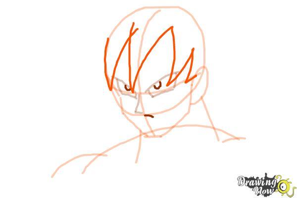 Cómo dibujar a Goku - Dragonball Z - Paso 5