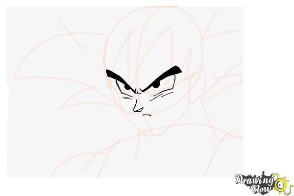 Cómo dibujar a Goku - Dragonball Z - Paso 7