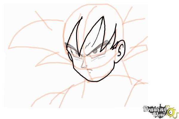 Cómo dibujar a Goku - Dragonball Z - Paso 8