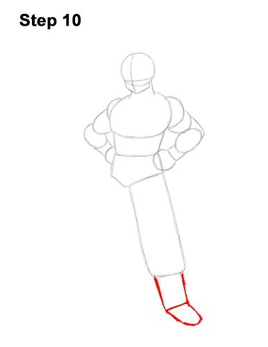 Cómo dibujar a Goku de cuerpo completo Dragon Ball Z 10