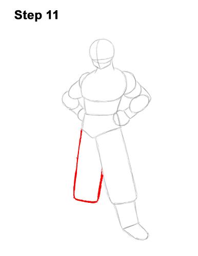 Cómo dibujar a Goku de cuerpo completo Dragon Ball Z 11