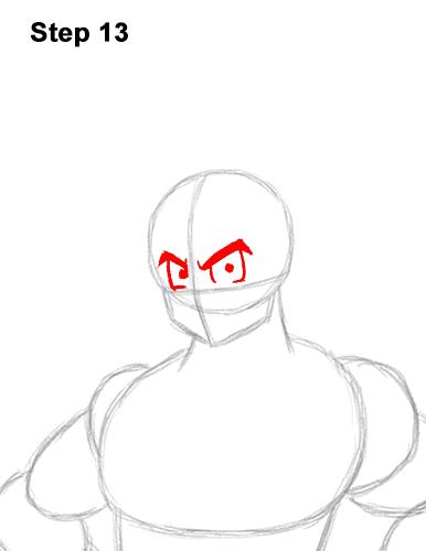 Cómo dibujar a Goku de cuerpo completo Dragon Ball Z 13