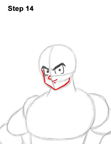 Cómo dibujar a Goku de cuerpo completo Dragon Ball Z 14