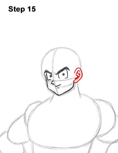 Cómo dibujar a Goku de cuerpo completo Dragon Ball Z 15