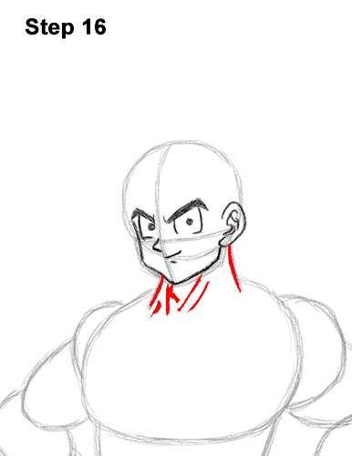 Cómo dibujar a Goku de cuerpo completo Dragon Ball Z 16